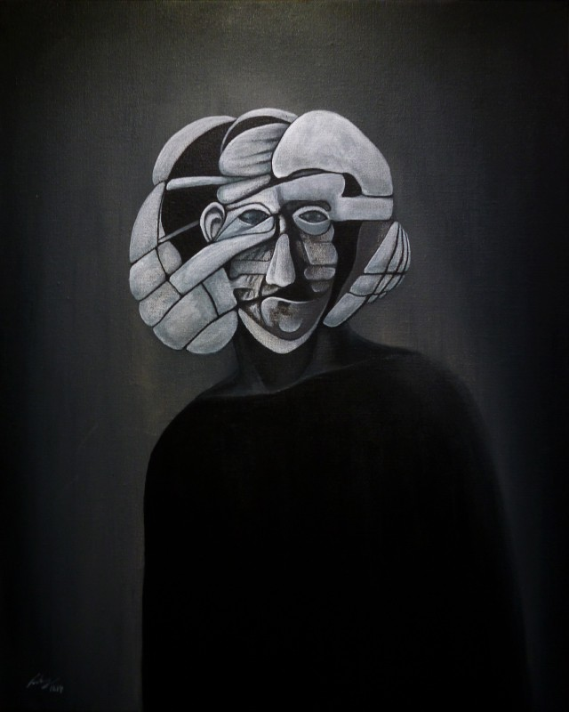 Graphite, acrylic on canvas, 50 x 40 cm, 2014. © Kyriakos Papageorgiou