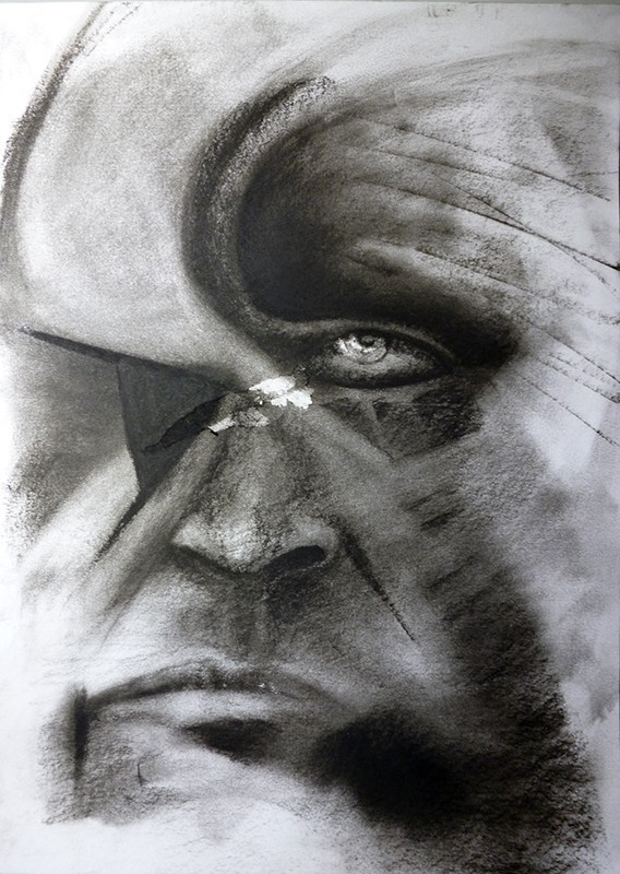 Charcoal on paper, 2013. © Kyriakos Papageorgiou