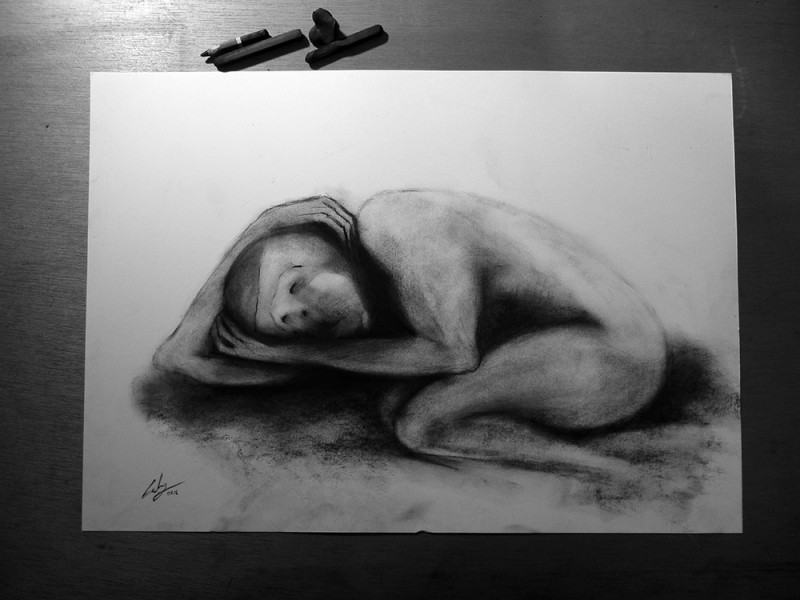 Charcoal on paper, 2015. © Kyriakos Papageorgiou